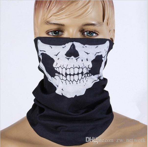 f1fee7b7798 New Skull Bandana Bike Camouflage Tube Neck Face Mask Headscarf Sport magic  Headband Pick Skull Print Bandanas 77