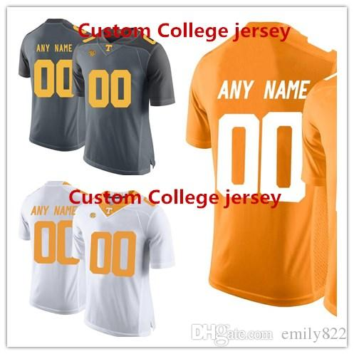 895b1f54694 2017 custom 2016 mens tennessee volunteers customized college football  limited jersey orange embroid ...