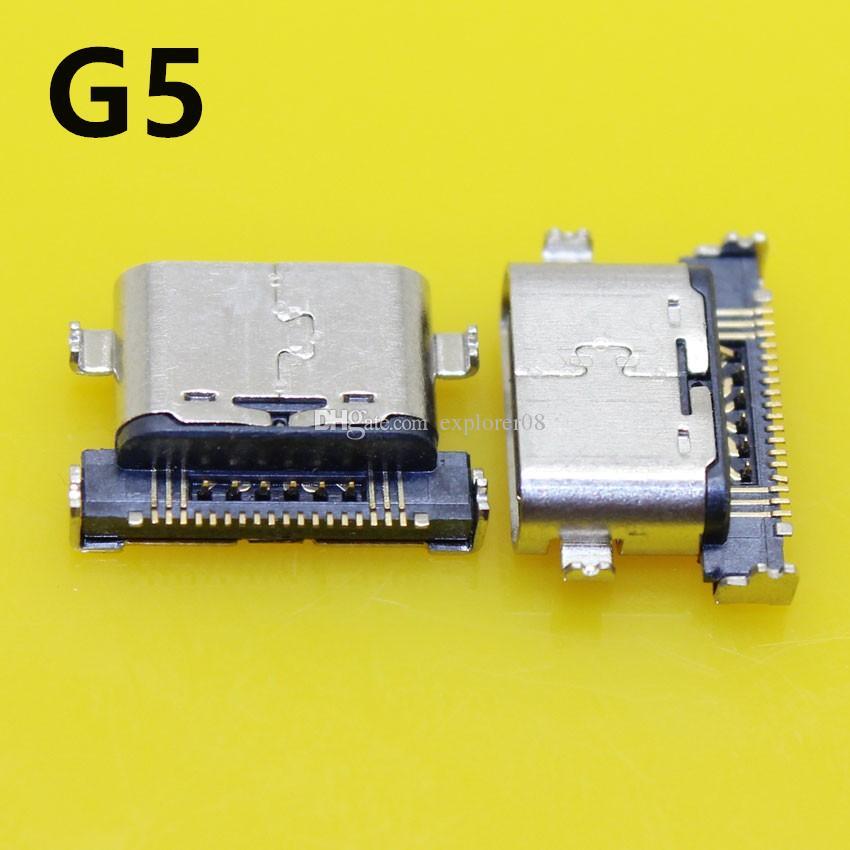 LG G4 G5 V20 V10 Için OEM Yeni USB Şarj Portu Şarj H635 Konektörü Dock Liman Onarım Bölümü Yedek Parçalar 10 Adet / grup