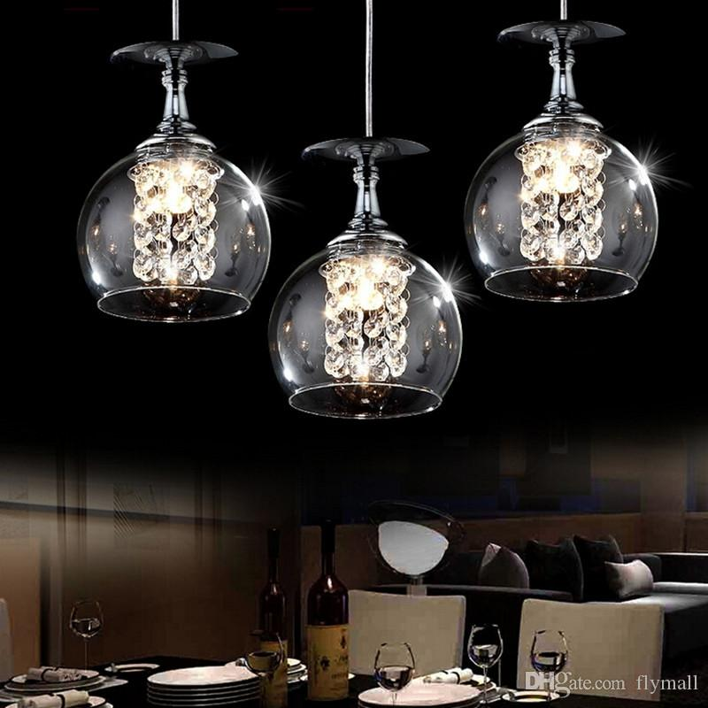 Grosshandel Moderne Hangende Lampen Led Kristallglas Kugel