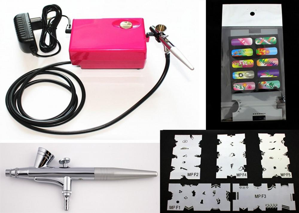 Wholesale Abest Salon Airbrush Nail Art System Compressor Kit With