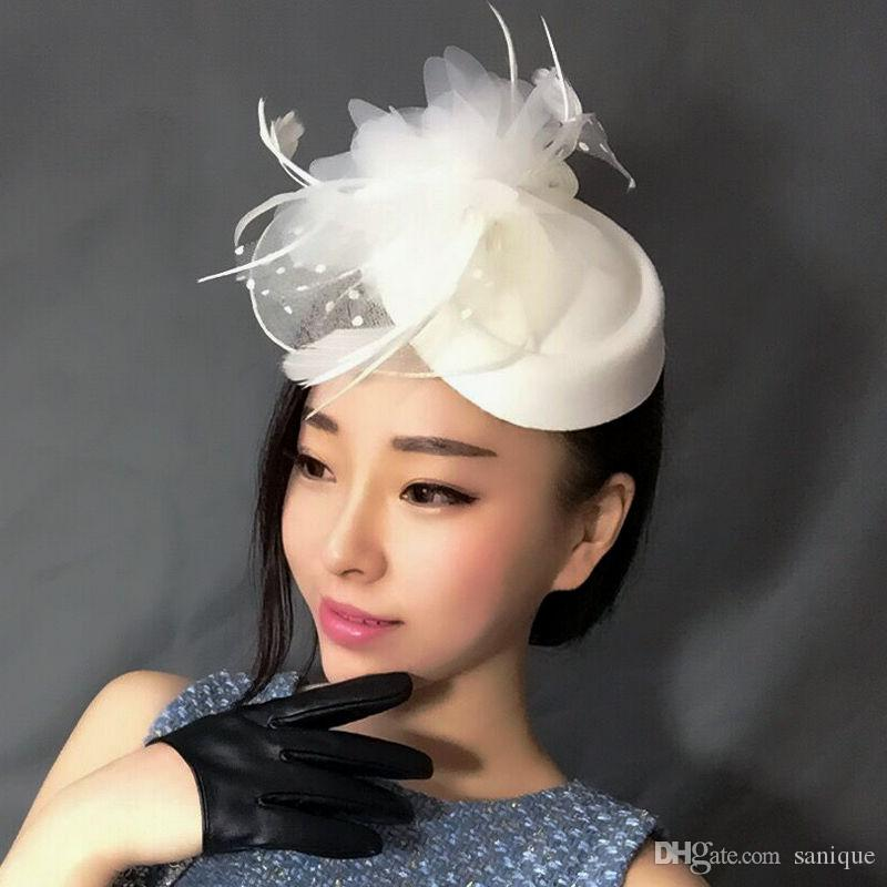 06fc8f8b09d Hot Sale Black Bird Cage Net Wedding Bridal Fascinator Hats Face Veil Ivory  Black Flower for Party Accessory Wedding Hat Bridal Hat Online with   23.96 Piece ...