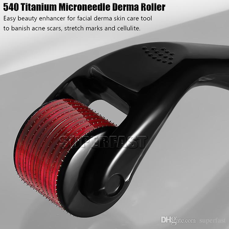 540 مايكرو إبر ديرما مايكرو إبرة الجلد الأسطوانة علاج الأمراض الجلدية مجهرية ديرمارولر 0.5 ملليمتر 1.0 ملليمتر 1.5 ملليمتر 2.0 ملليمتر 3.0 ملليمتر مع مربع التجزئة