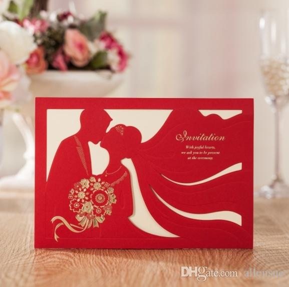 2017 Latest Chinese Invitation Cards Wedding Invitations Elegant With Red Envelope Accept Customized Printing Wishmade Cw7020 Etiquette