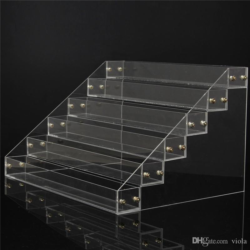 4 Tier Clear Acrylic Display Stand Makeup Nail Polish Storage Acrylic Cosmetic Organizer Tier Rack Display Stand Holder
