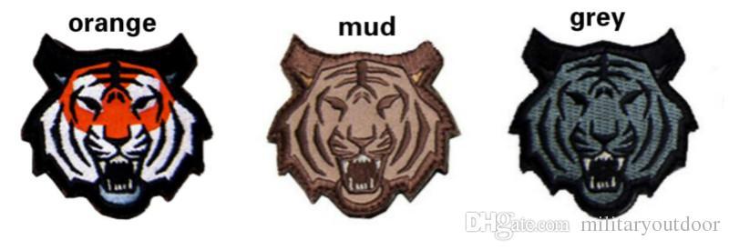 Dragón chino del mono táctico Patch VP-142 de alta calidad de la insignia del bordado 3D / tigre Parches de Moral gancho bucle Ejército Placa Brazalete