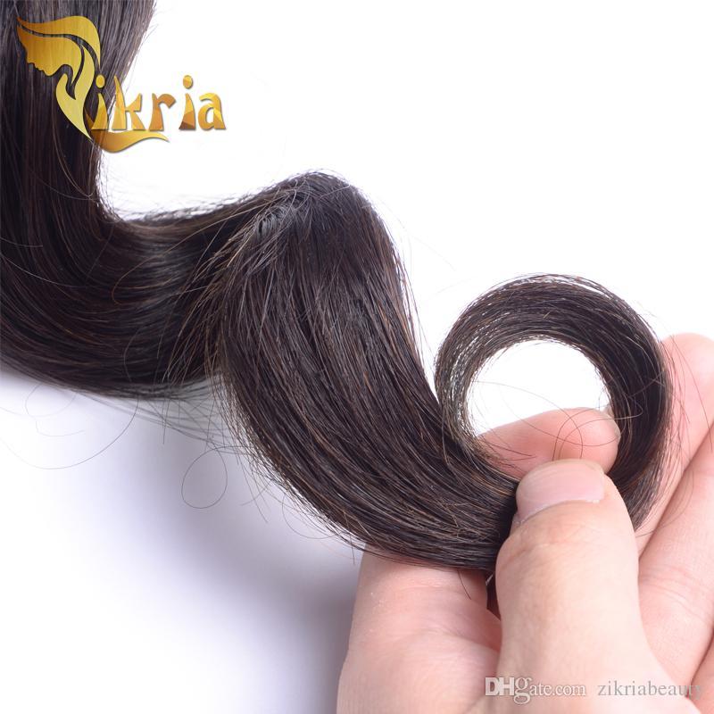 3 piezas de paquetes de cabello humano onda suelta Indian malasio peruano virgen brasileña paquetes de pelo Clip en extensiones de cabello suelta la onda