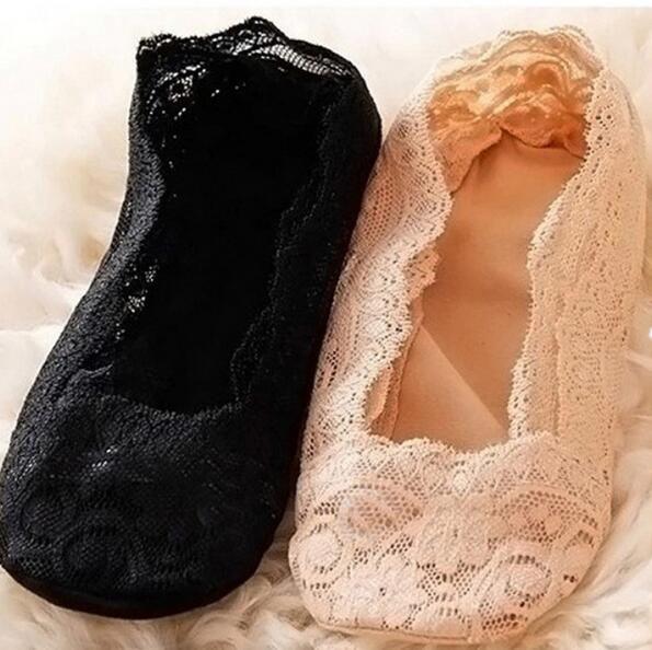La caviglia del pizzo del cotone delle donne guarisce la breve moda femminile sveglia sventagliata calzini della principessa della barca di Skidproof invisibili