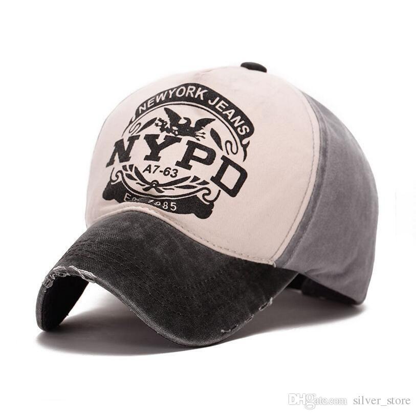 Good A ++ Cappellino da baseball con cappuccio e cappuccio da donna in cotone primaverile ed estivo nuovo cappello estivo NYPD SMB050