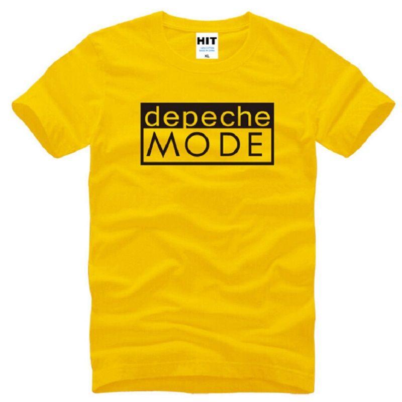 New Distinct Depeche Mode T Shirts Men Cotton Short Sleeve Alternative Dance Men's T-Shirt Summer Style Male Music Rock Top Tees