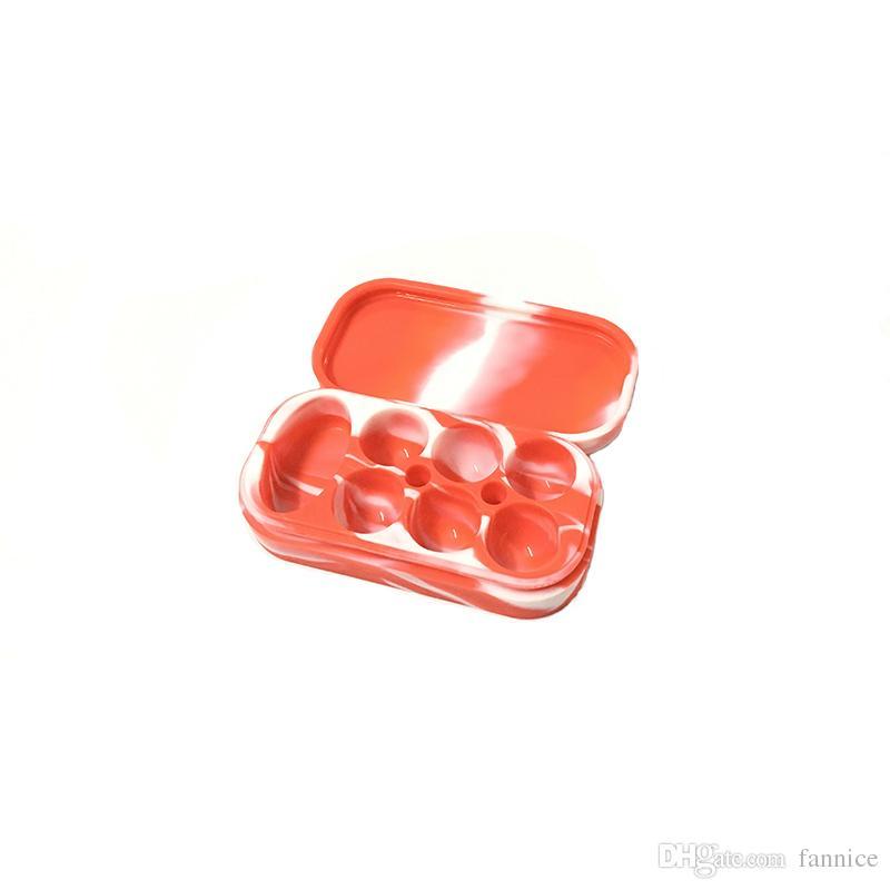 ReusableDurable antiaderente in silicone Contenitore Bho Silicon Box idromassaggio Jar Wax Nuovo 4ml * 6 + 10ml * 1