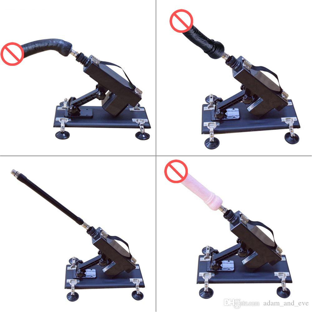 Upgrade Affordable Sex Machines for Women Automatic Masturbation Love-making Robot Machine with Black Super Huge Dildo Vibration Sex Toys
