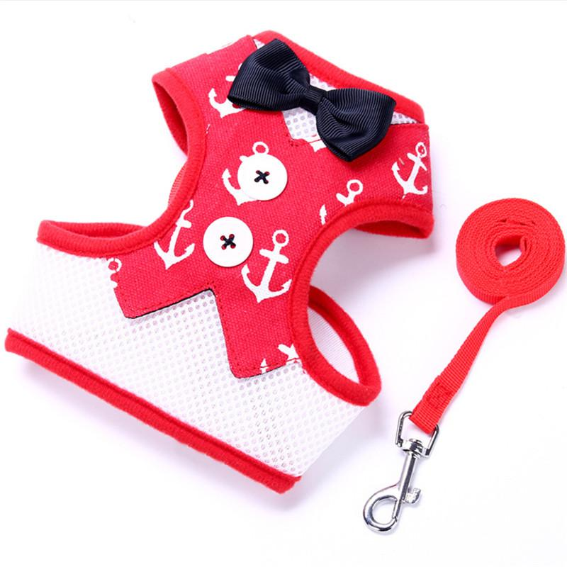 Pet Dog Harness and leash Adjustable Puppy Harness Vest No Pull Dog Harness Leads Leash Small Pet Accessories for Animals