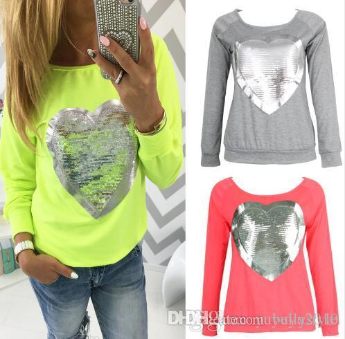 e58fff2f7bb 2019 HOT SALE! Autumn Clothing Long Sleeve T Shirt Women S Heart Shaped  Print Tops Women Harajuku Femme Blusas LJ5038M From Bellystyle