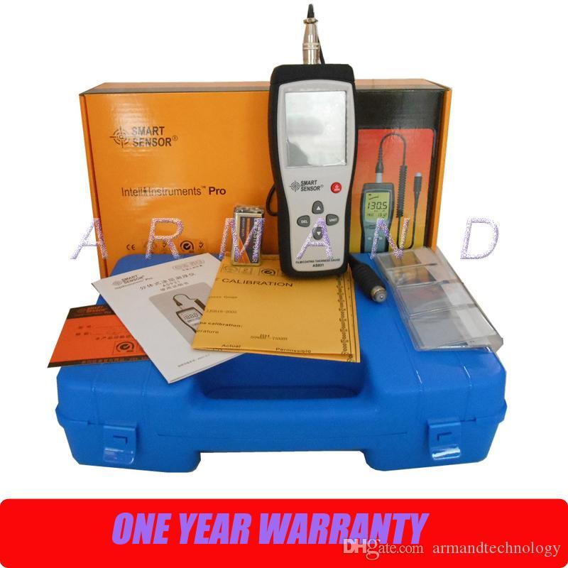 Medidor de espesor de película / recubrimiento digital AS931 Medidor de espesor portátil Sensor inteligente 0-1800um