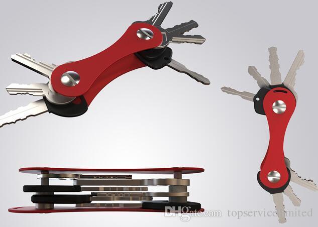 Keychain Multi Tool Hot Key Organizer Pieghevole chiavi Clamp EDC Holder Tasca in alluminio Key Bar EDC Survival Gear