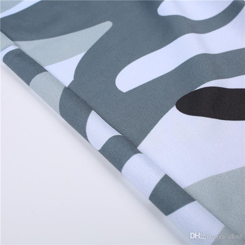 Sport Fans hohe elastische Slimt Fit Navy White Camouflage Hose Digital Full Print Freizeit Capris Sex Slim Fit Hosen PWDK22-01 WR