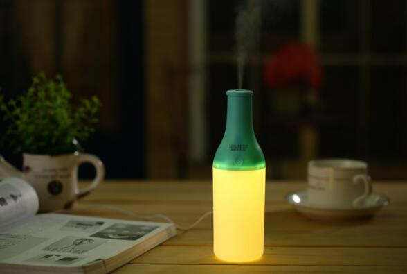 New Design Cool Bottle Mist Maker 180ml Led Night Light Air Purifier Essential Oil Diffuser Humidifiers USB Aromatherapy Diffuser DHL