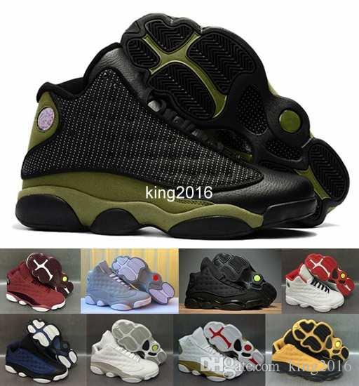 huge selection of f4a1b 3e2f6 ... air huarache e05be 133cc  promo code for 13 olive army green men  basketball shoesmens 13s dmp black cat low navy