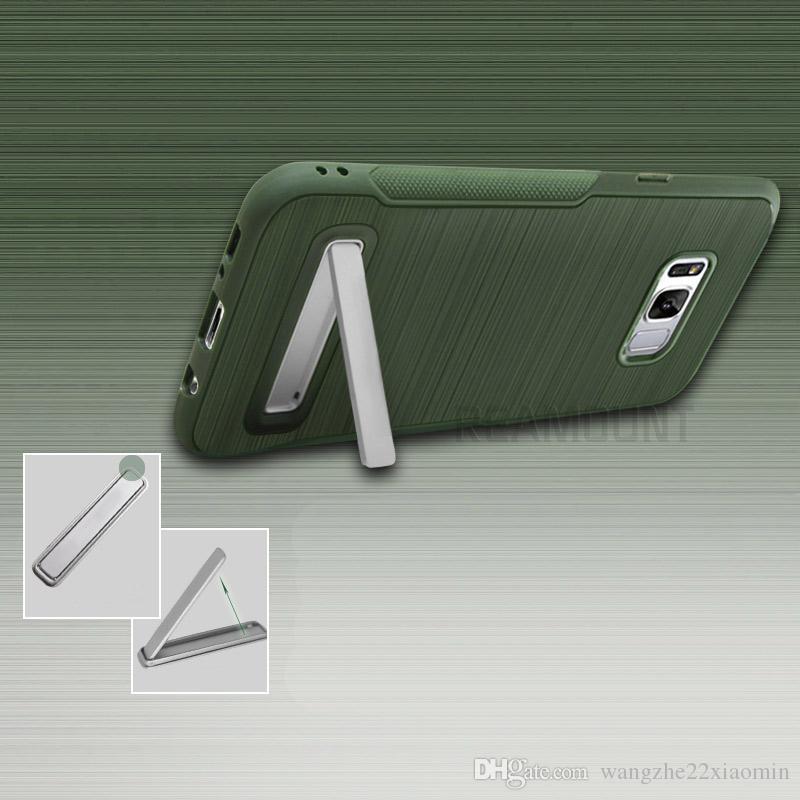 다채로운 닦 았 Kickstand 삼성 J210 J510 J710 쉘 전화 케이스 커버 TPU Siclicon 휴대 전화 케이스 커버