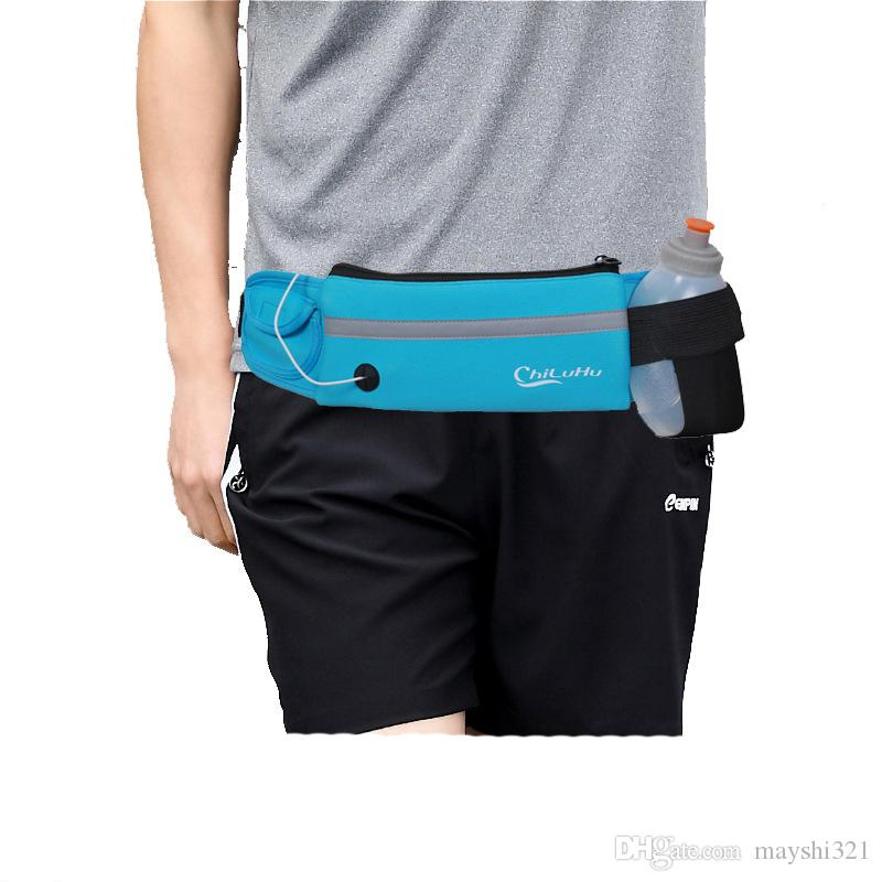 Waterproof Marathon waist belt Running Belt Bag Outdoor Sports Phone Waistband Water Bottle Pouch Waist Pack Fitness Jogging Pocket
