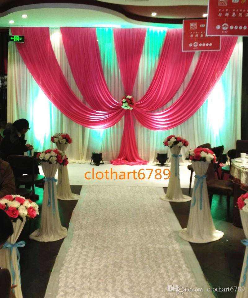 3m 6m Wedding Backdrop With Swags Valance Party