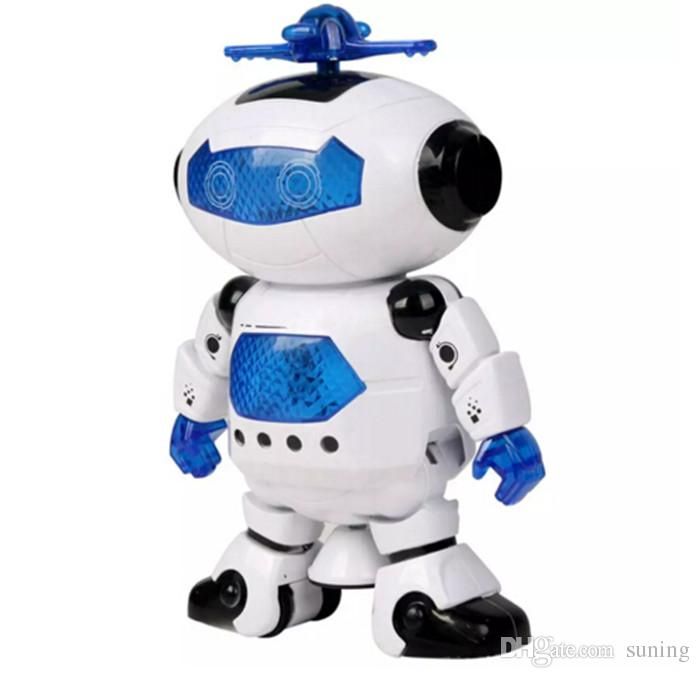 New Kids Dancing Robert Toys Plastic Electronic Walking Dancing Smart Space Robot Astronaut Children Fun Music Light Christmas Gift
