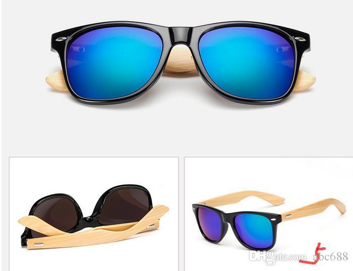 Ralferty Retro Bamboo Wood Occhiali da sole Uomo Donna Designer Sport Occhiali Specchio oro Occhiali da sole Tonalità lunette oculo