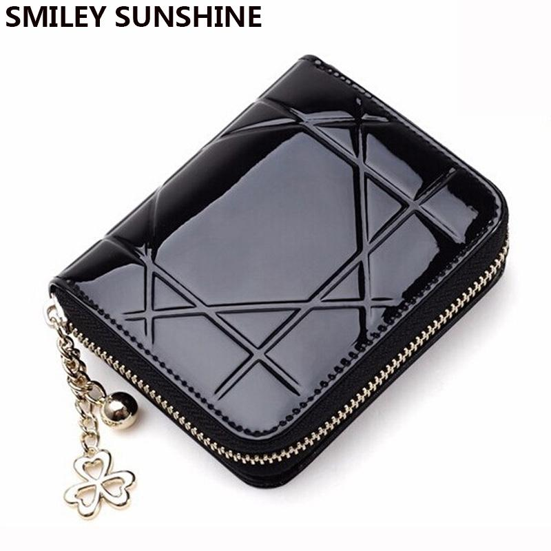 f29cad57fc2a Wholesale Patent Leather Womens Wallets Female Small Wallets Mini Zipper  Wallet For Women Short Coin Purse Holders Clutch Girl Money Bag Cool Wallets  Front ...