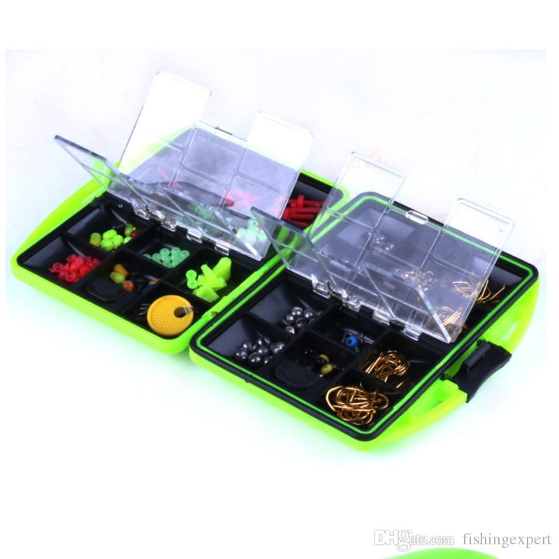 Green Fishing Accessories 152 Gram Fishing Gear Box or Crank Hook and Jigging Heads Hooks and Space Beans Fishing Supplies Suits