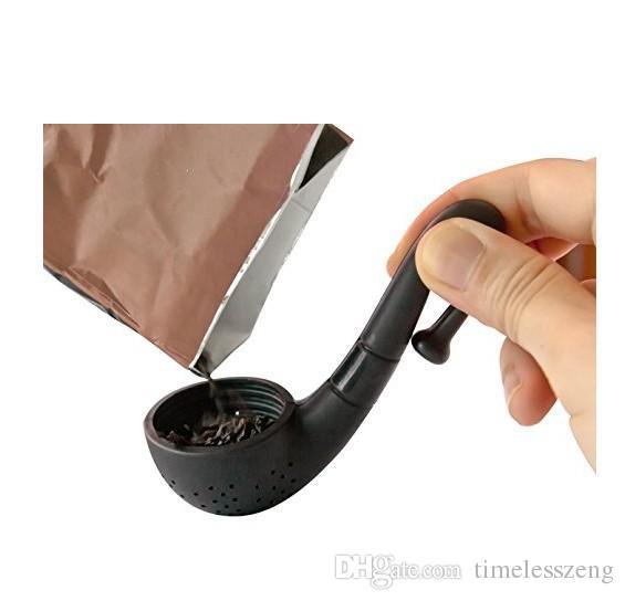 High-Quality Silicone Pipe Shape Tea Infuser Leaf Herb Spiece Makers Bag Mug Filter The Kitchen Gadget Tea Leaf Strainer