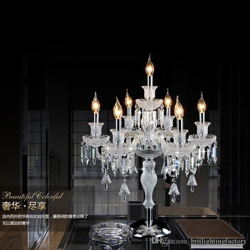 lampade da tavolo in cristallo camera da letto di lusso di alta qualità lampada da tavolo in cristallo la camera da letto lampada da tavolo decorazione della scrivania illuminazione a led luci da tavolo