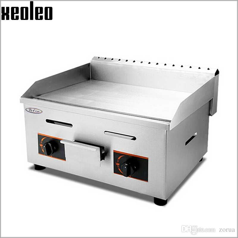 xeoleo commercial gas griddle flat pan griddles gas flat griddle stainless steel restaurant frying equipment from zorua dhgatecom