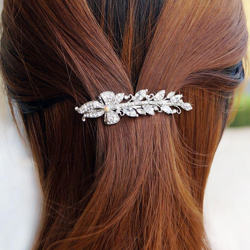 Woman headdress hair Colorful plaid (jewelry) flower hairclip small hair hair clip clip edge lady head ornaments A0494