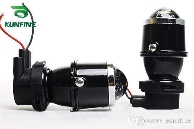12V / 35W Coche HID Xenon Proyector Lente Lámpara de niebla con H3 HID bombilla 6000K luz de niebla para faro de coche