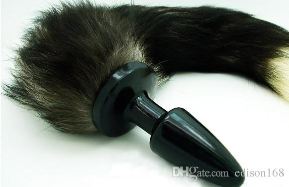 Kvinna Anal Butt Plug With Sexy Fox's Tail Bondage BDSM Produkt Vuxen Sex Games Ass Slap Vibration Kinky Anus Vibrator Toy
