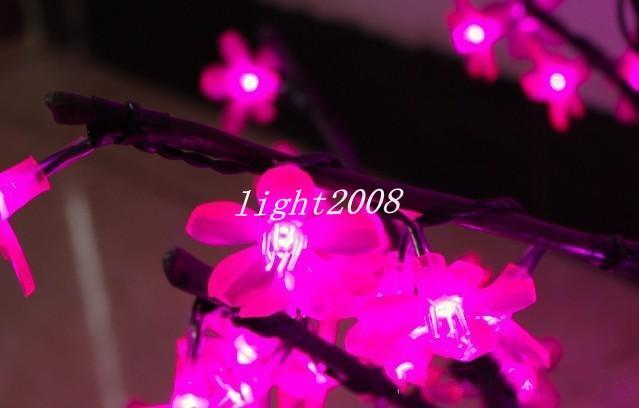 LED Artificial Cherry Blossom Tree Light Christmas Light LED Bulbs 2m/6.5ft Height 110/220VAC Rainproof Outdoor Use