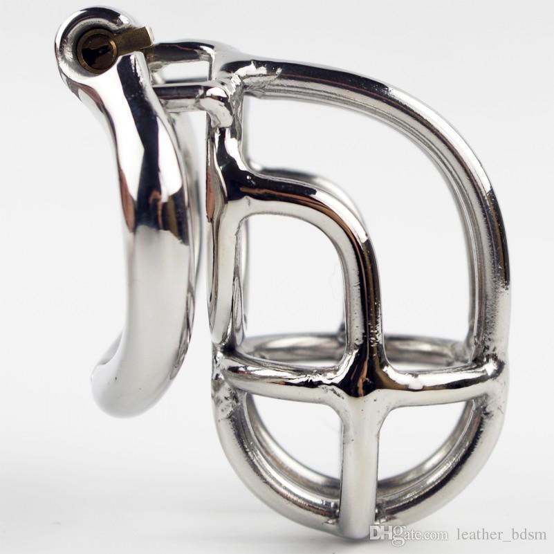 Nuevo diseño de 55 mm de longitud de acero inoxidable Super pequeño dispositivo de castidad masculina 2.1