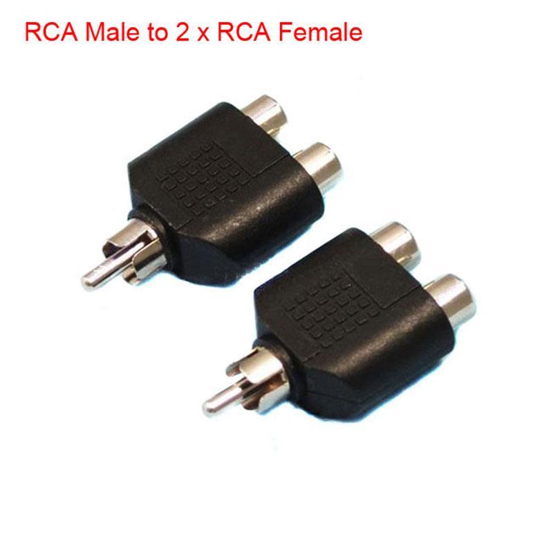 RCA AV 오디오 Y 스플리터 플러그 어댑터 1 남성 2 여성 X2 소켓 케이블 TV 컨버터를 리드