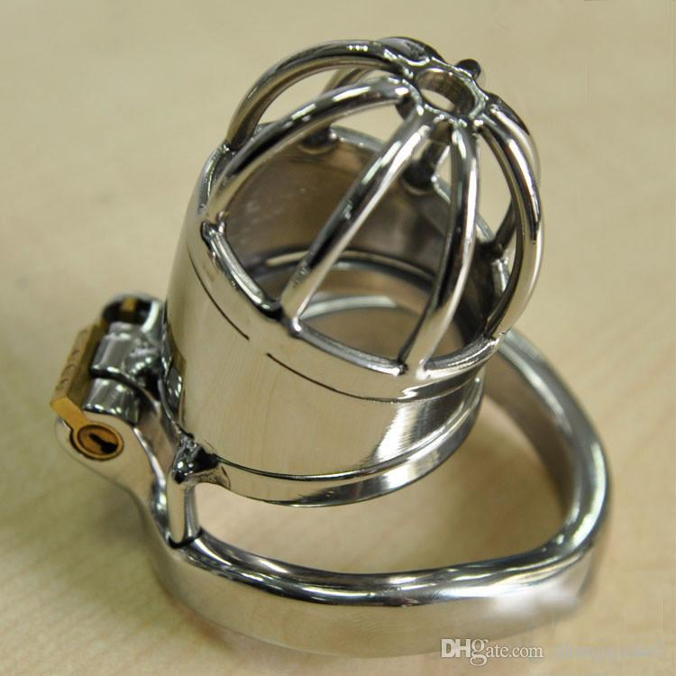 Newest Short Metal Cock Cage for Male Stainless Steel Super Small Chastity Device BDSM Sex Toys
