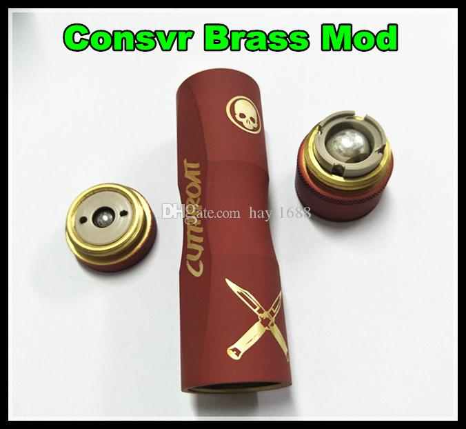 Haute qualité Consvr Mod Cigarette électronique fit 18650 Batterie Mécanique Mod 2 Couleurs Laiton Matériel Fit 510 RDA Atomiseurs