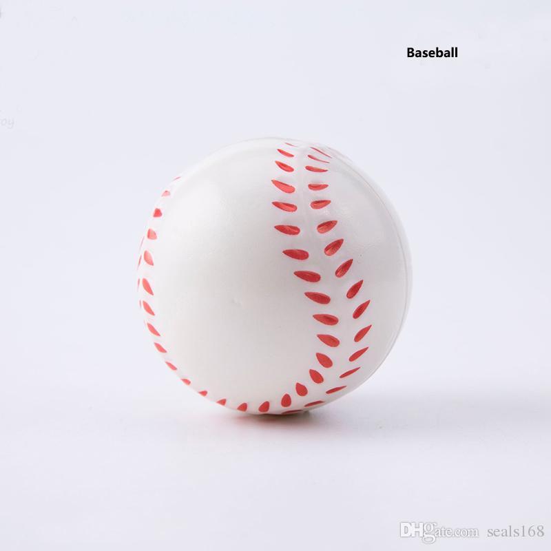 6.3 см бейсбол футбол баскетбол игрушки мячи мягкий PU непоседа стресс Noverty футбол весело декомпрессии игрушки для детей взрослых подарки HH-B30