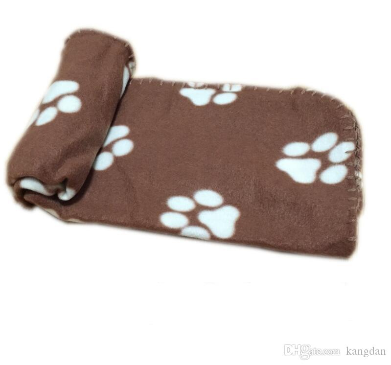 70x100 cm lit pour animaux de compagnie Paw Print Soft Chaud Polaire Couvertures pour animaux de compagnie Chien Chat Mat Puppy Bed Canapé Couverture animal de compagnie jette