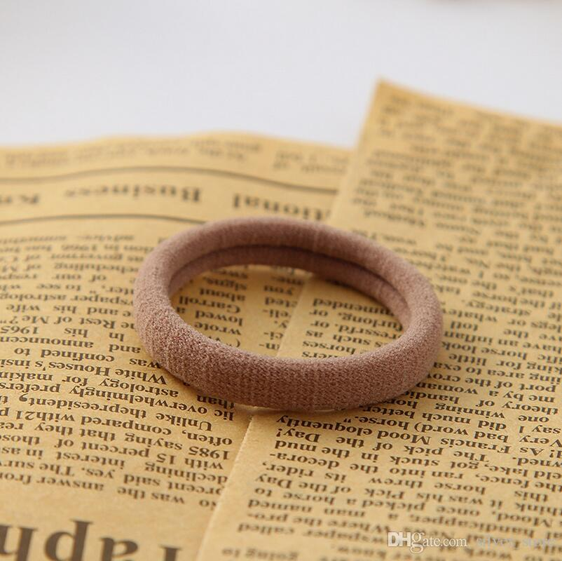 Stretch and durable Seamless size of the hair band rubber band candy color hair circle FQ042 a