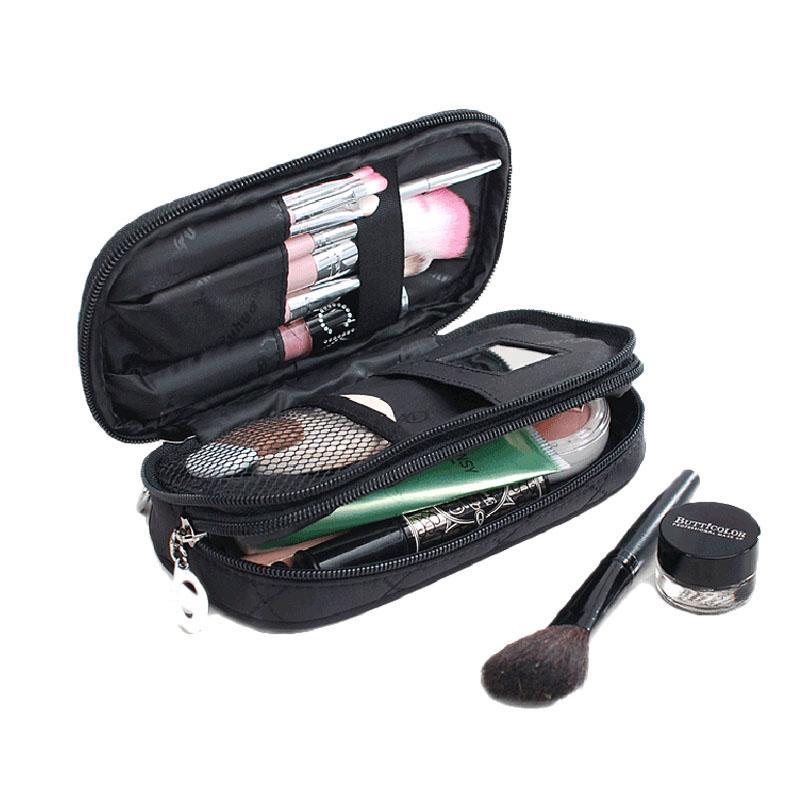 2019 Wholesale Women Rectangular Nylon Toiletry Bag Zipper Purse Mini Makeup  Bag Lady Storage Brush Organizer Make Up Clutch Cosmetic Bags From  Shuiyong, ... e9e802bd4b
