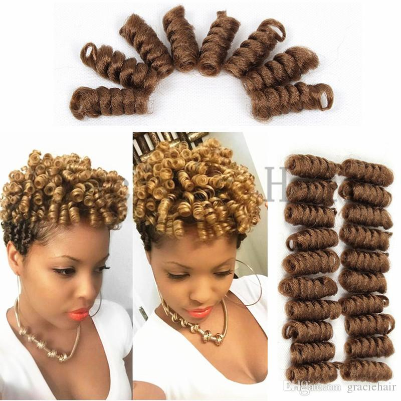 2018 Synthetic Hair Extensions Saniya Bouncy Curls Crochet