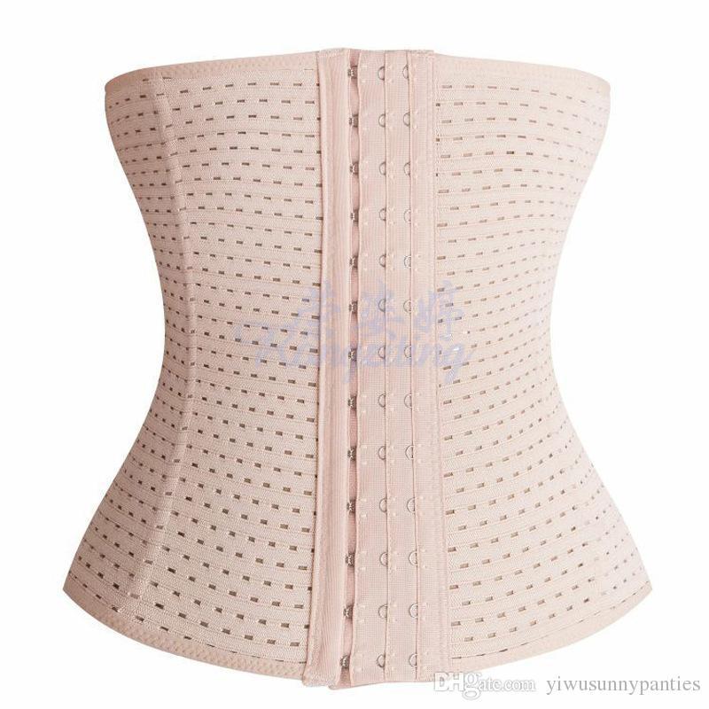 3Rows hooks women slimming Cheap body shaper Bustier belt fashion 4 steel boned waist trainer corsets black Plus size Shapewear