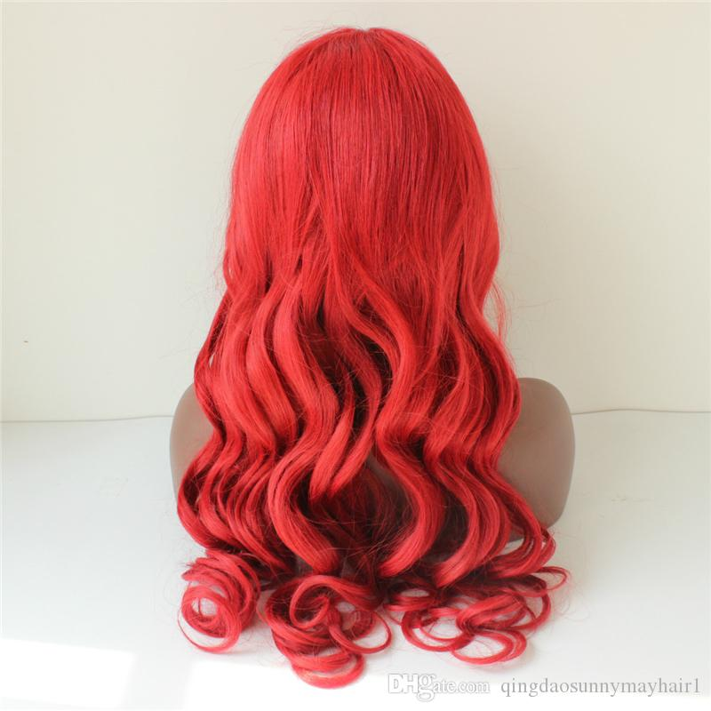 Cheap full lace Brazilian human hair wigs red body wave Lace Front Wigs Fashion wave 99j full Lace Wig For Black Women