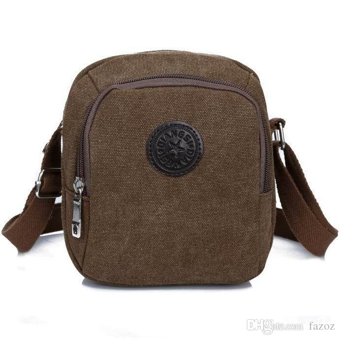 Men Mini Canvas Shoulder Bag Crossbody Messenger Bags Outdoor Casual  MobilePhone Pouch Small Weekend Travel Pack Male Purse Cellphone Pocket Mini  Shoulder ... 2a7fd8fbef