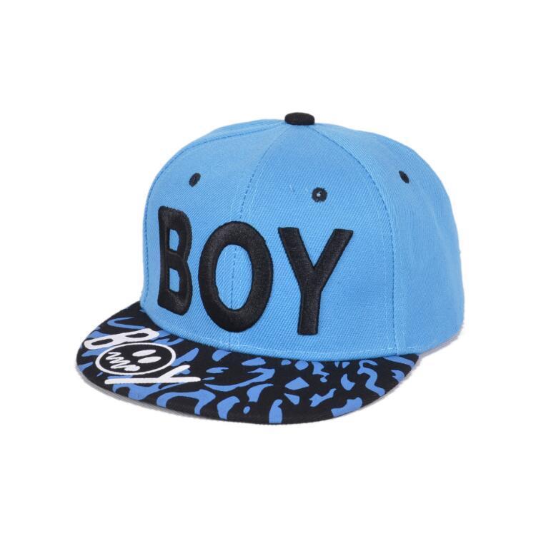 Großhandelsneues Frühlings-Sommer-Baby-Buchstabe-JUNGE Cap-Jungen-justierbare Baseballmütze 3-8 Jahre scherzt Hysteresen-Hip-Hop-Hüte Sonnenhut